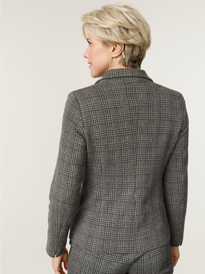 Blazer en jersey à motif de carreaux