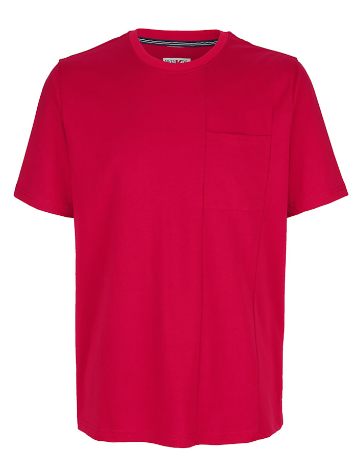 Roger Kent T-shirt med delningssömmar, Röd