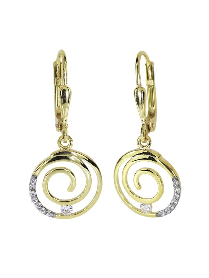 OSTSEE-SCHMUCK Ohrhänger - Spirale - Gold 333/000 - Zirkonia, gold