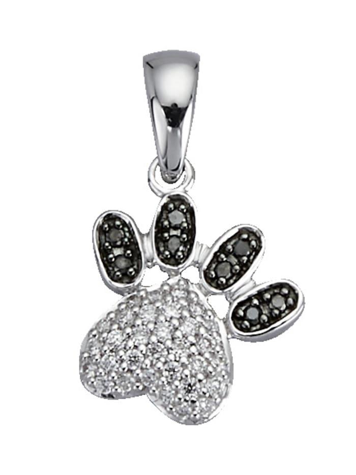 Diemer Diamant Pfoten-Anhänger, Silberfarben