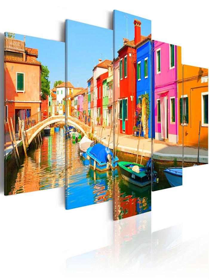 artgeist Wandbild Waterfront in rainbow colors, mehrfarbig