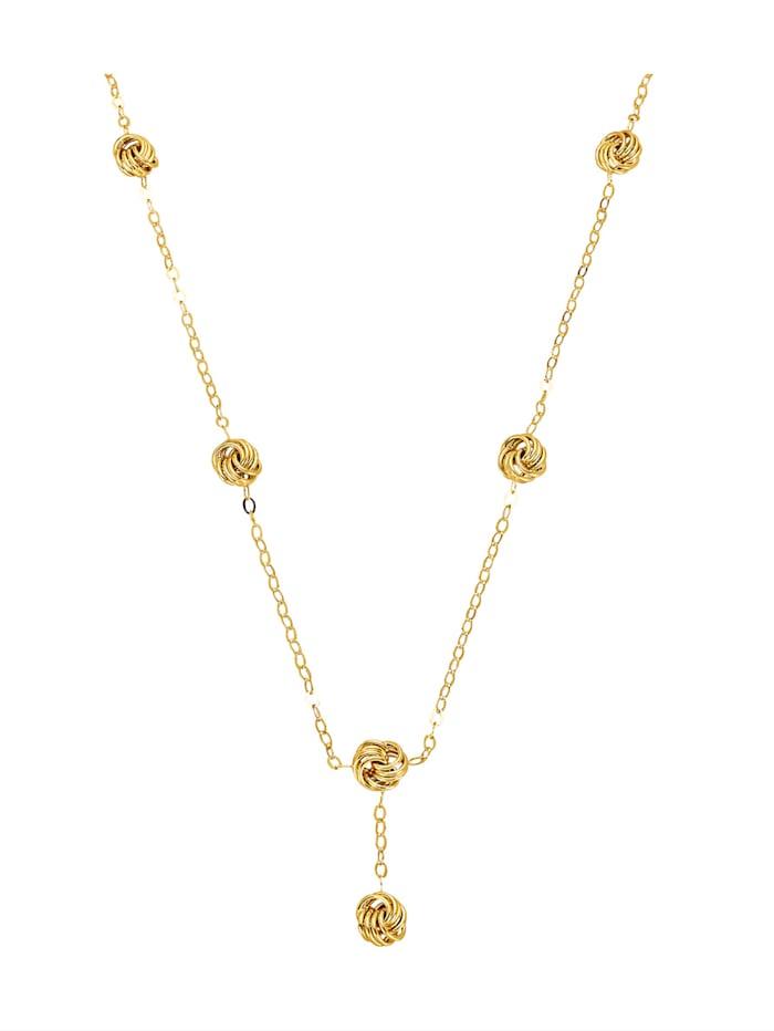 Diemer Gold Collier diamantiert, Gelbgoldfarben