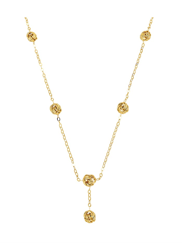 Diemer Gold Collier met 6 rozetjes, Geelgoudkleur