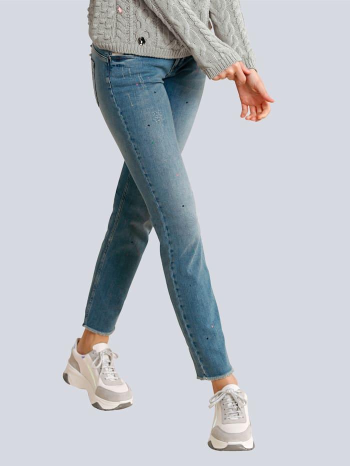Jeans mit bunten Herzen