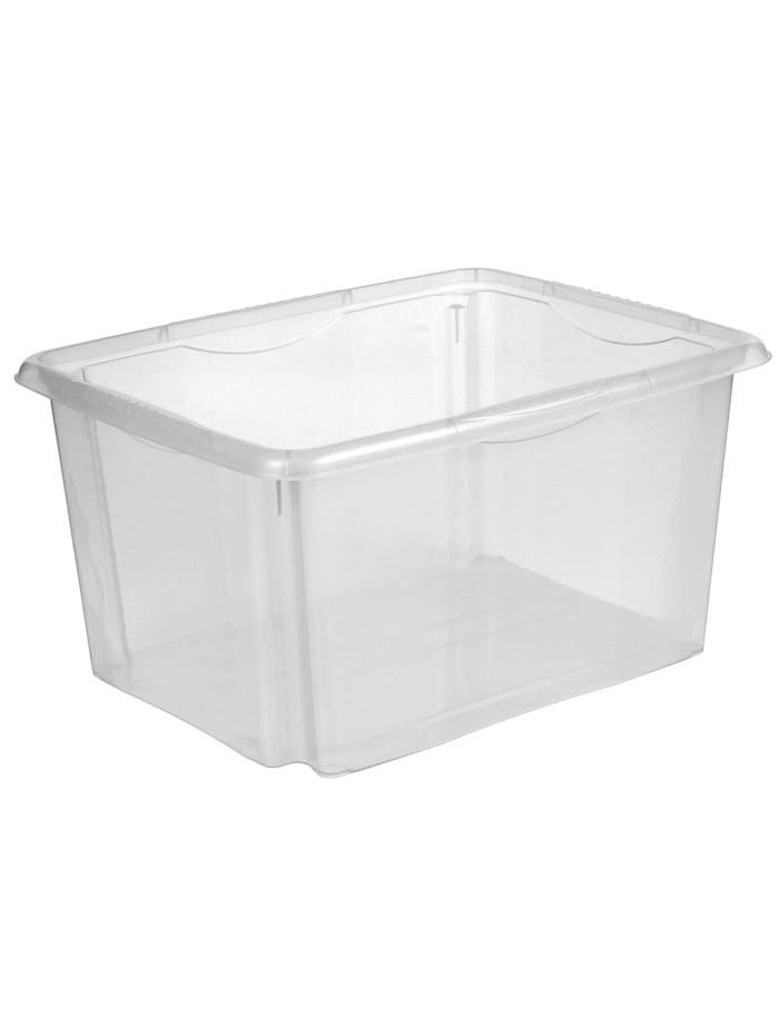 HTI-Living Dreh-Stapel-Box, 24 L Box, Dreh-Stapel-Box, 24 Liter, 22 x 42 x 34,5 cm, Transparent
