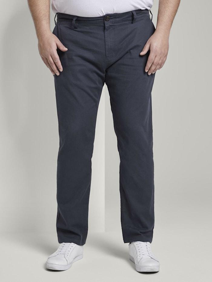 Tom Tailor Men Plus Slim Chino-Hose, cement yarn dye structure