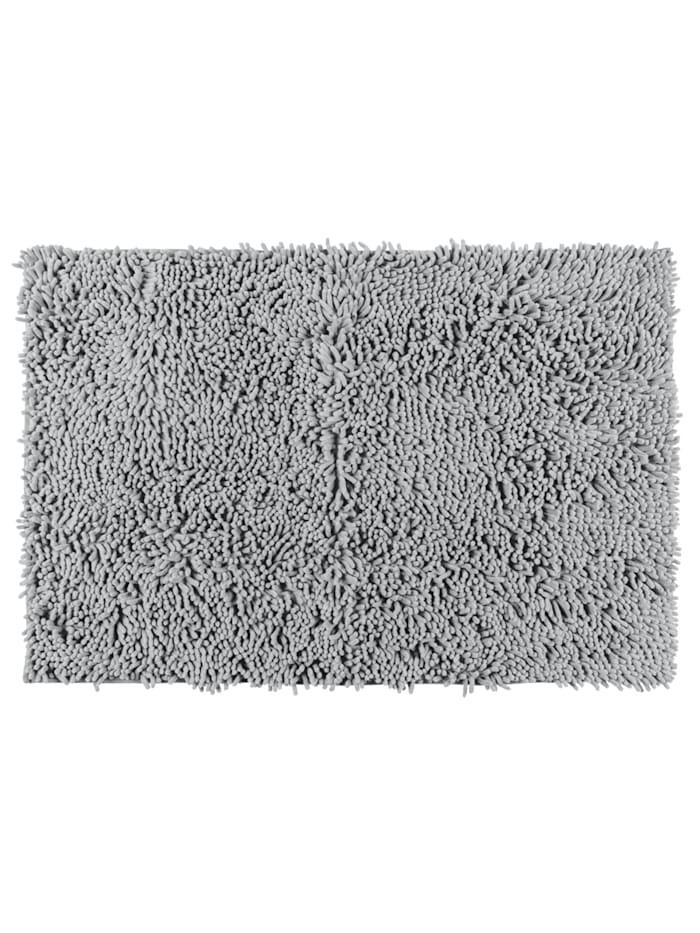 Wenko Badematte Chenille Light Grey, 50 x 80 cm, Oberfläche: Grau - Hellgrau, Rückseite