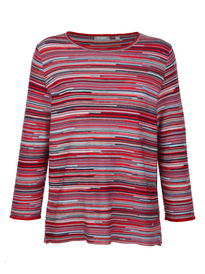 Pullover in streifiger Melangegarn- Optik