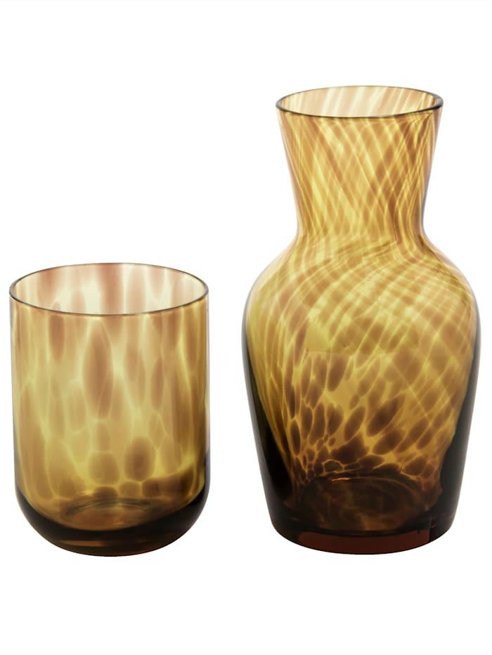 IMPRESSIONEN living Nachtflasche mit Glas, braun
