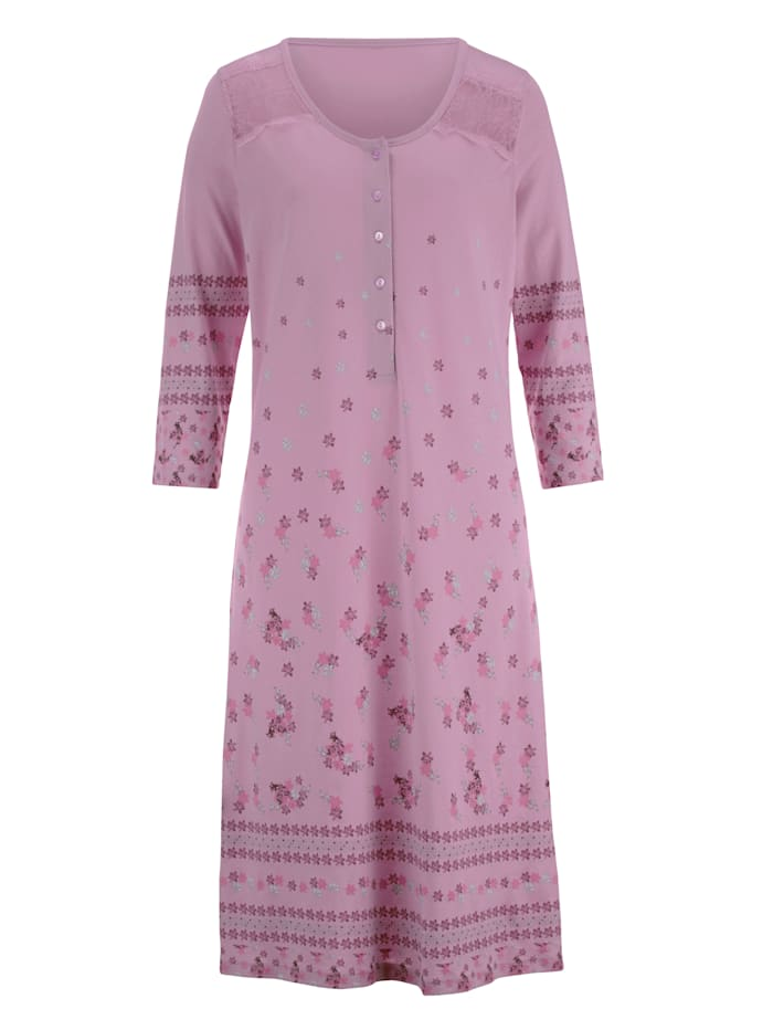 Nachthemd mit hübschem Bordürendruck