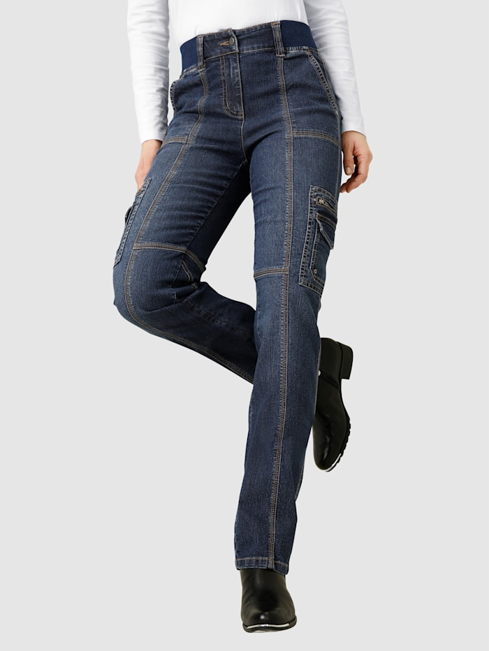 Paola Jeans i cargomodell, Blå
