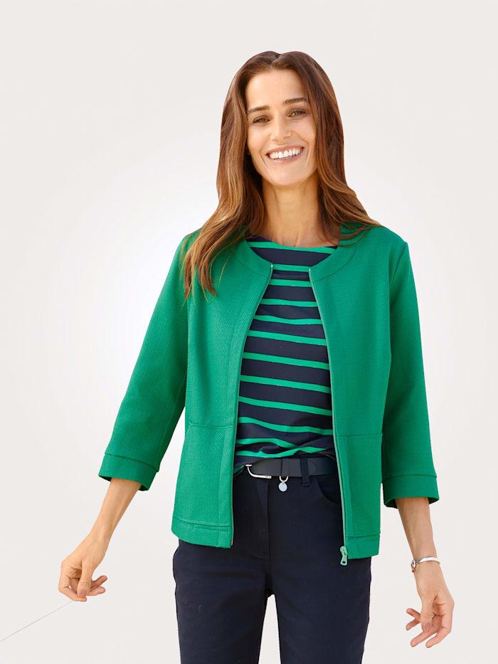 MONA Blazer mit Strukturgewebe, Grün