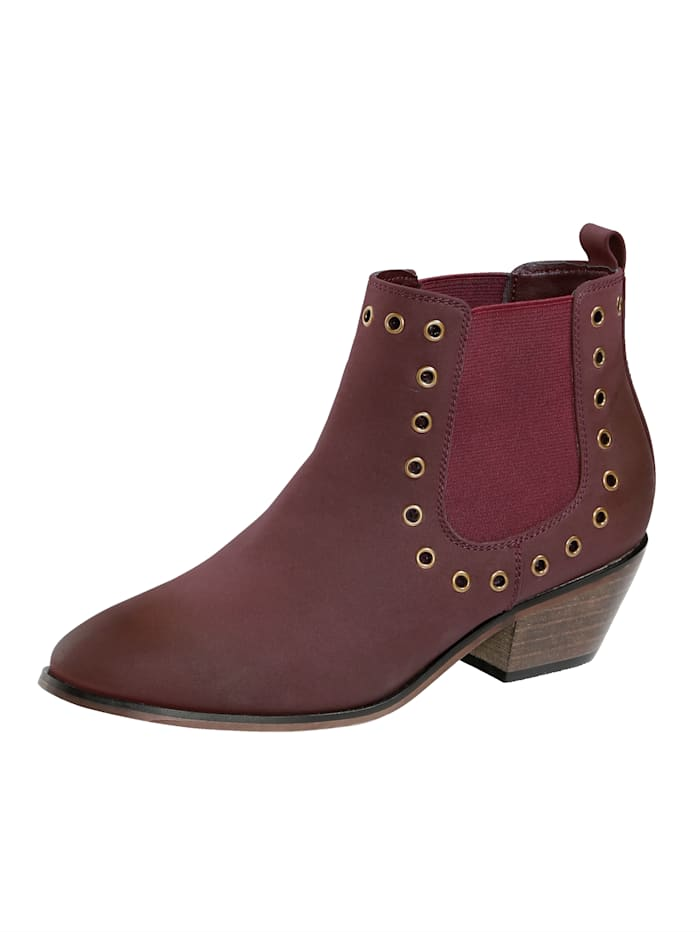 Liva Loop Chelsea Boot in trendstarker Western-Optik, Bordeaux