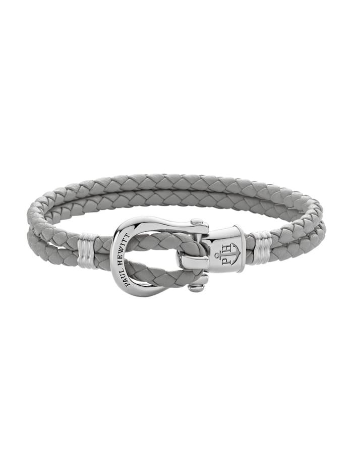 Paul Hewitt Paul Hewitt Damen-Armband Female PHINITY SHACKLE Leder/Edelstahl, silber