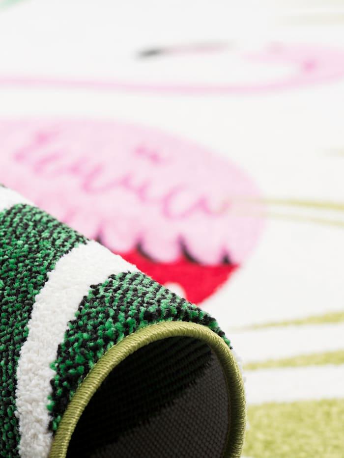 Designer Teppich Faro Tropical Flamingo