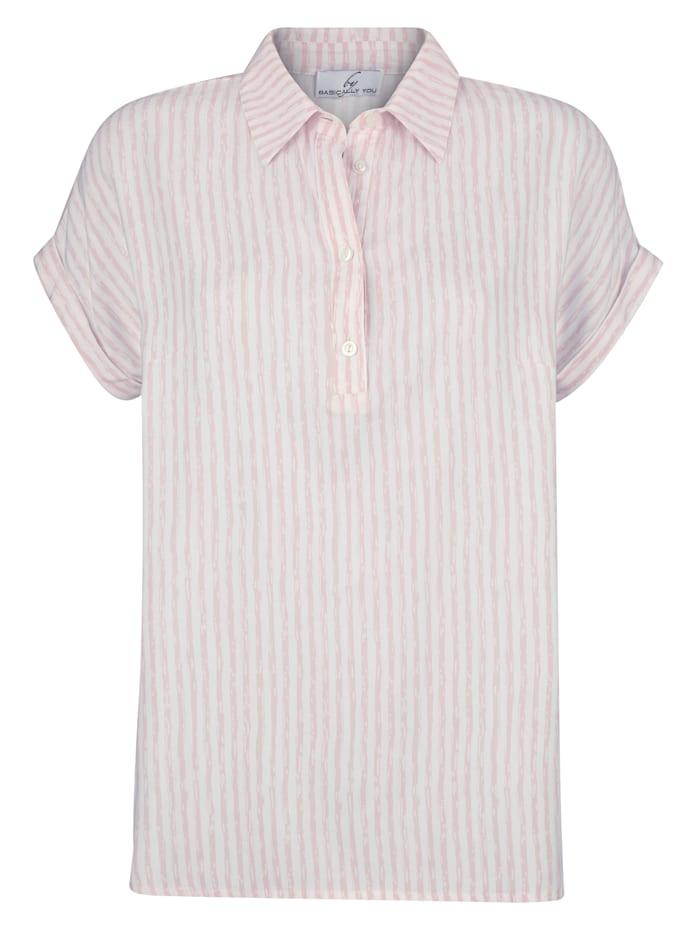 Bluse in Streifendesign