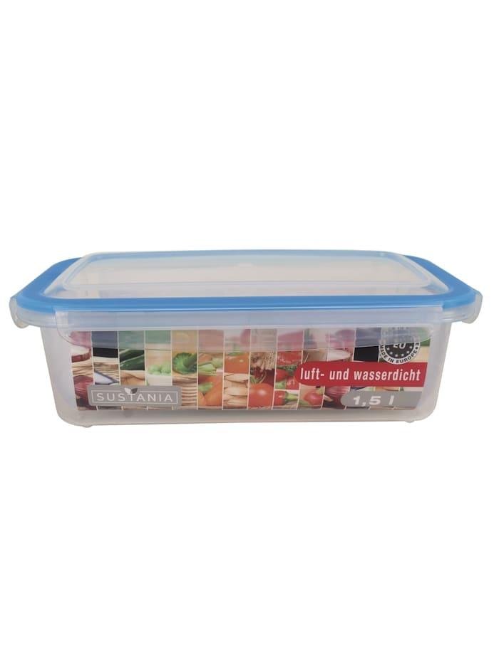 Neuetischkultur Frischhaltedose 1,5 Sustania, Transparent, Türkis