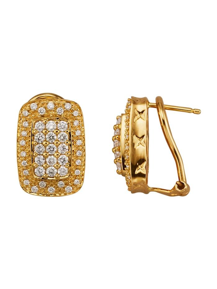 Diemer Diamant Ohrstecker mit Brillanten, Gelbgoldfarben
