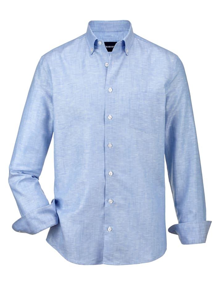 Babista Premium Chemise en lin à effet stretch, Bleu ciel