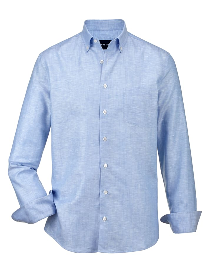 Babista Premium Leinenhemd mit Stretch-Effekt, Hellblau