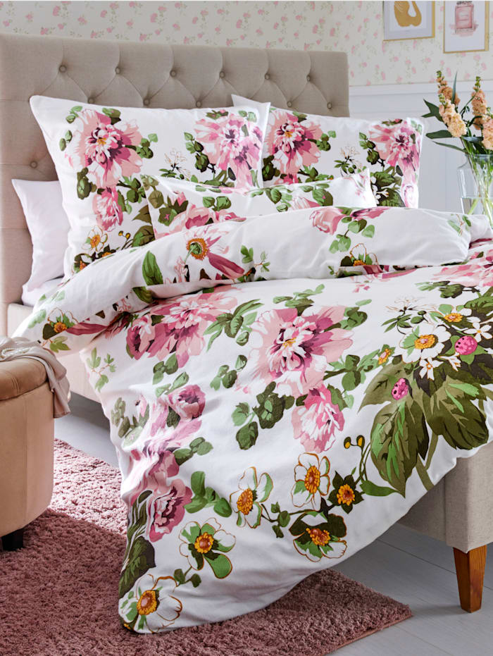 Webschatz Sengesett -Dorothea-, natur/rosa