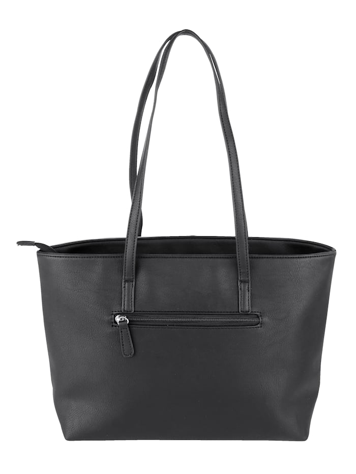 Handbag in a versatile finish