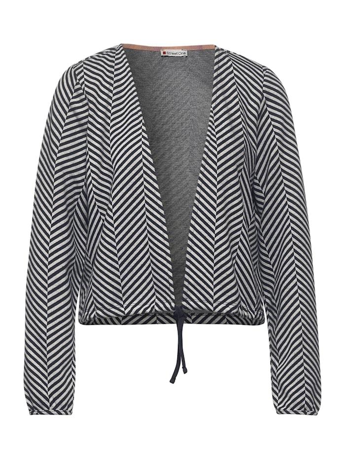Street One Kurze Shirtjacke mit Dessin, dark shaded grey