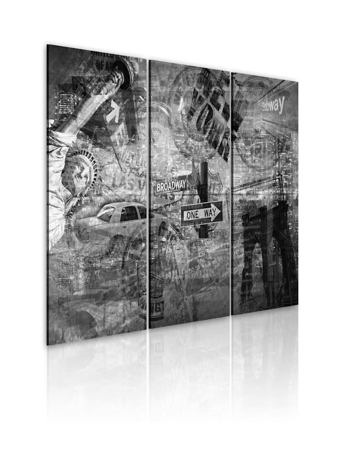 artgeist Wandbild Symbole von New York, schwarz-weiß