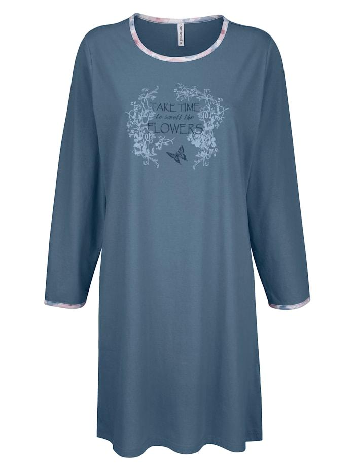 "Comtessa Nachthemd aus dem ""Cotton made in Africa""-Programm, jeansblau"