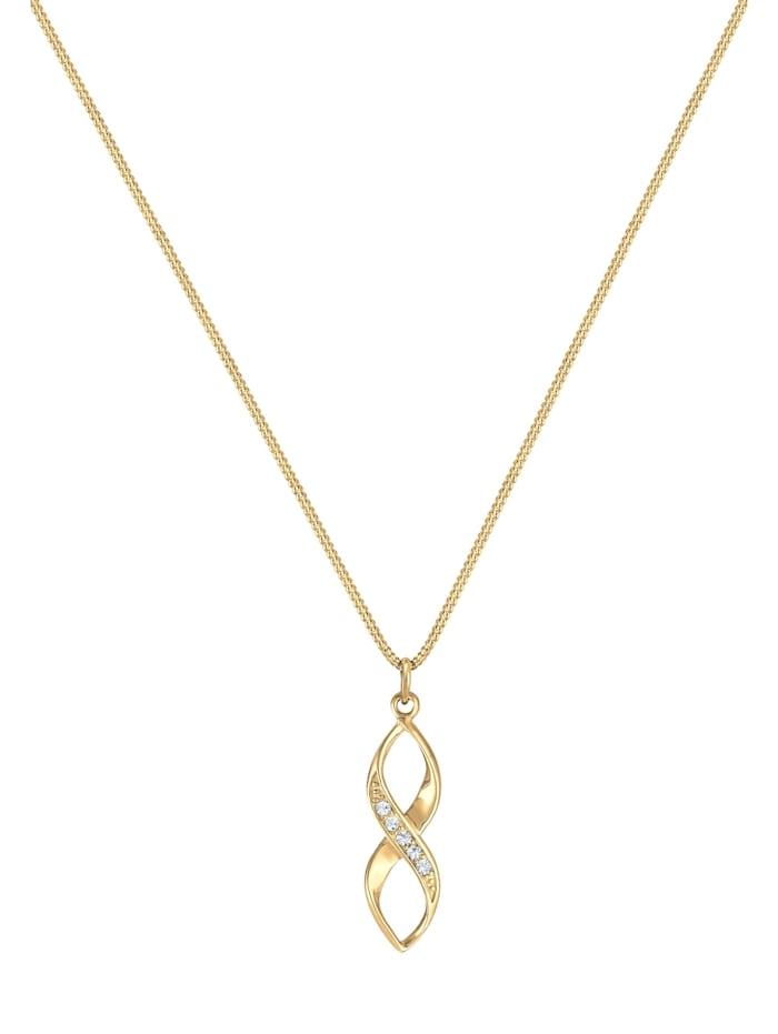 Halskette Infinity Verziert Kristalle 925 Silber