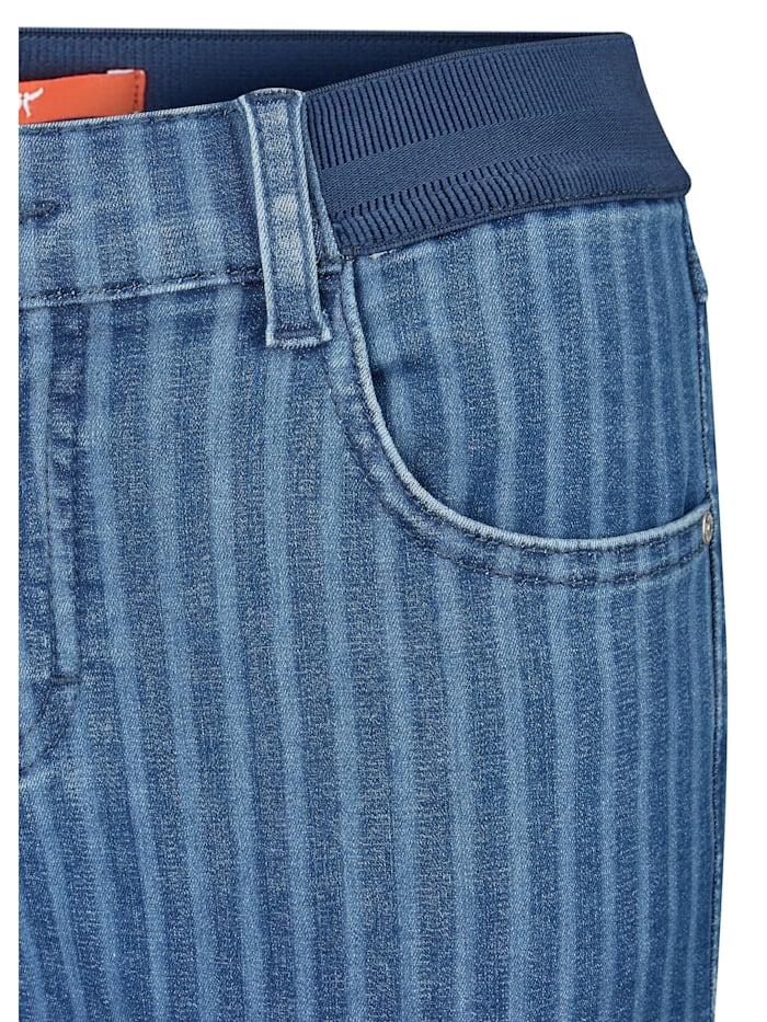 Jeans 'ONE SIZE' mit feinem Streifen-Muster