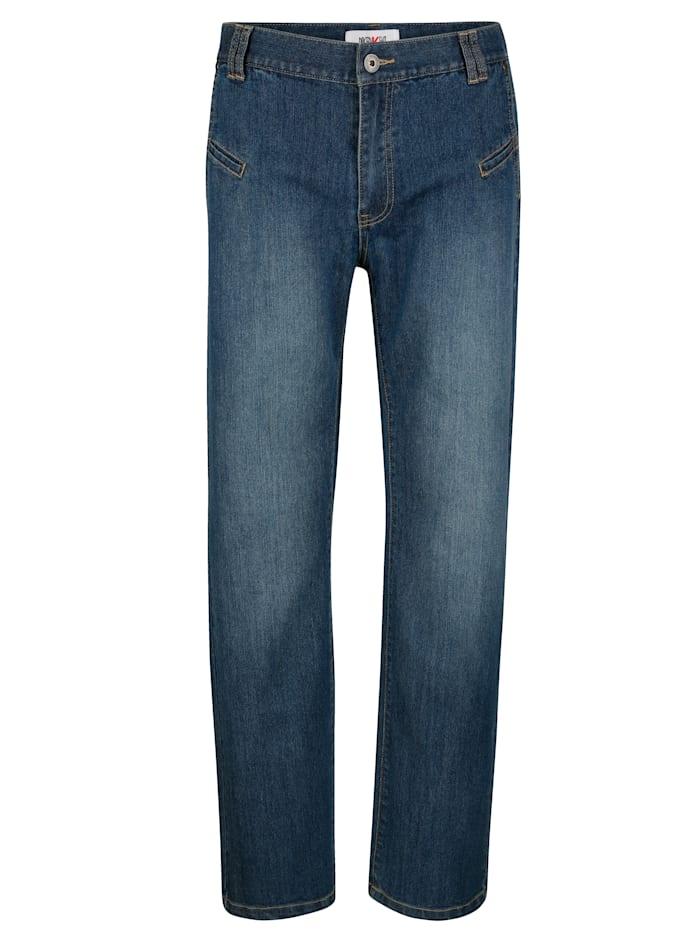 Roger Kent Jeans med extrafickor, Blue stone
