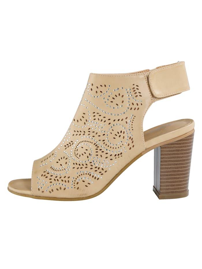 Sandale mit Klettriegel an der Ferse