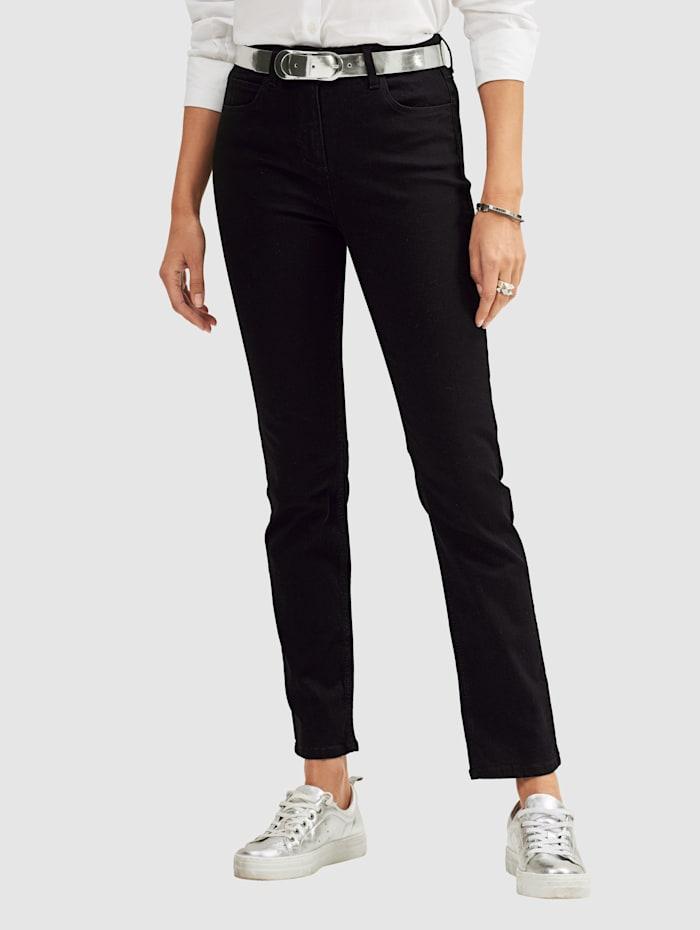 MONA Jeans in 5-pocketmodel, Zwart