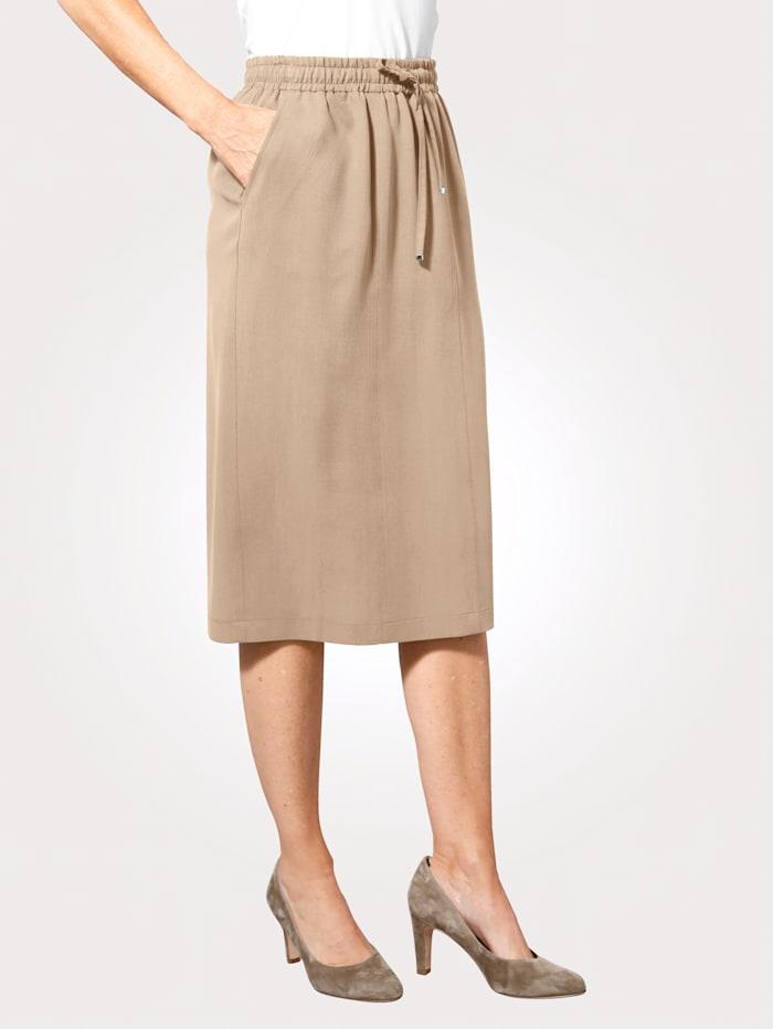 MONA Skirt made from a lightweight fabric, Sand