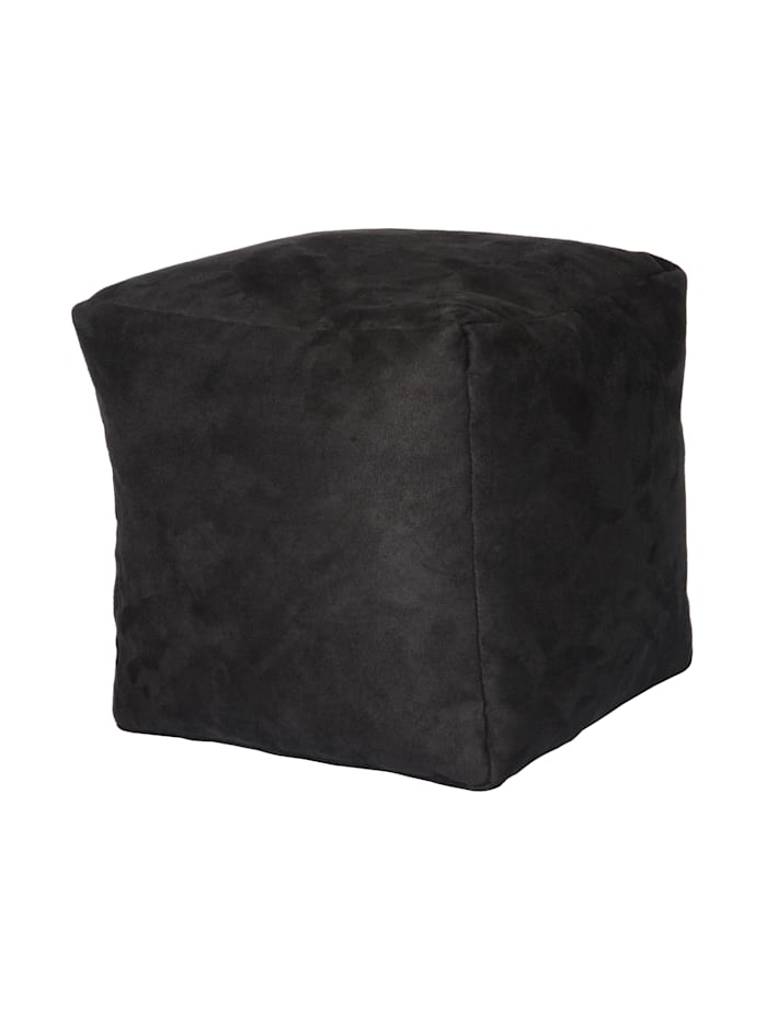 Linke Licardo Sitzwürfel Hocker Würfelhocker Einzelhocker uni 40x40x40 cm, anthrazit