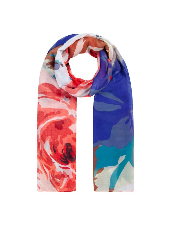 Codello Softweicher Blumen-Schal aus recyceltem Polyester, light pink