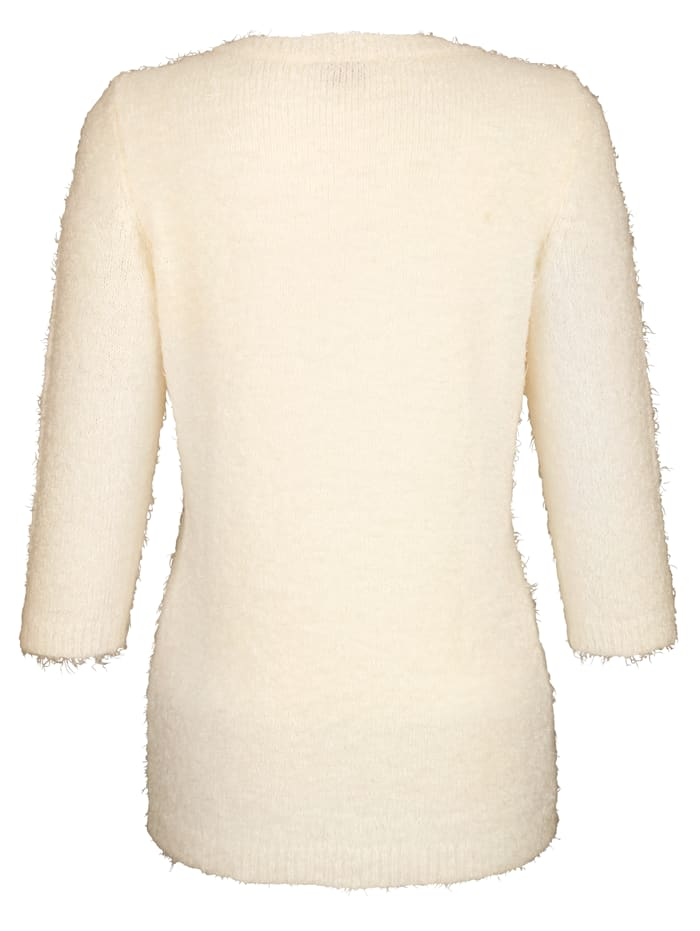 Pullover mit Flauschgarn