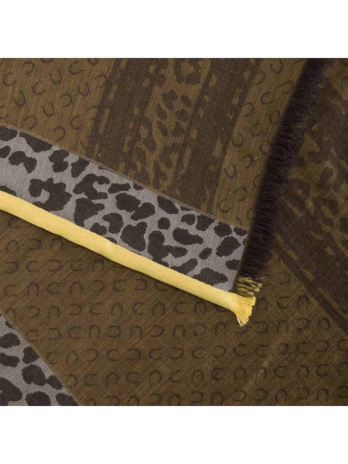 Jacquard-Schal aus Wolle, Baumwolle und Modal