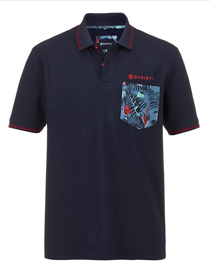 BABISTA Poloshirt met modieuze details, Marine