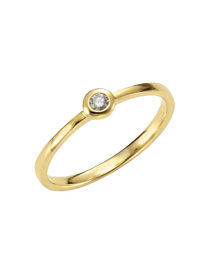 Orolino Ring 585/- Gold Brillant weiß Brillant Glänzend 0.05 Karat 585/- Gold, gelb
