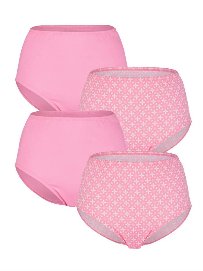 Harmony Taillenslips im 4er Pack, Rosé/Weiß