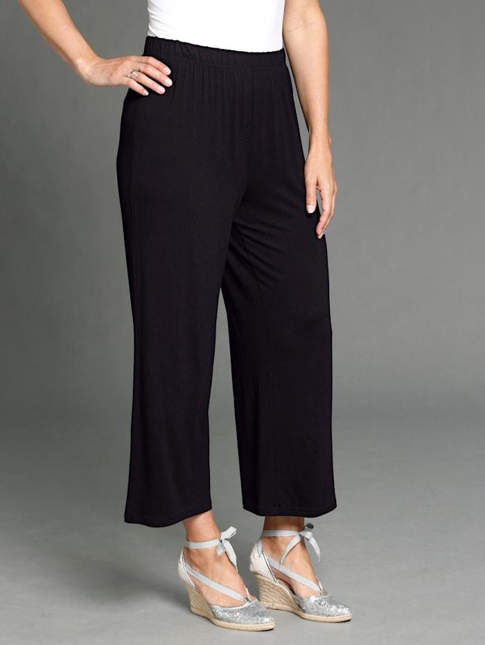 MIAMODA Culotte in trendy kort model, Zwart