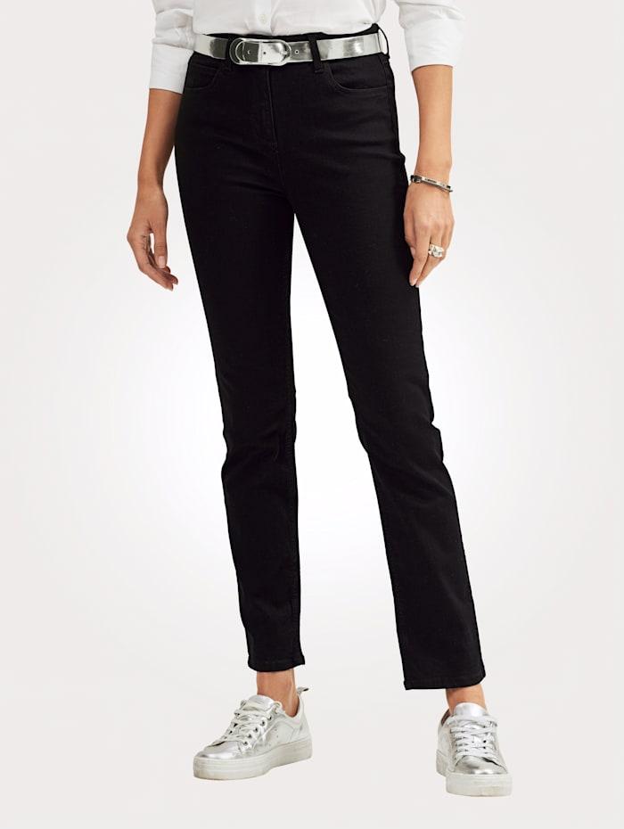 MONA Jean de coupe 5 poches, Noir