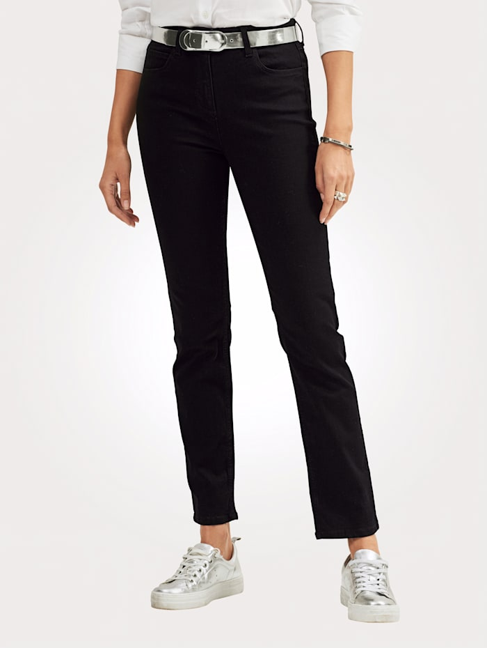 MONA Jeans in 5-Pocket-Form, Schwarz