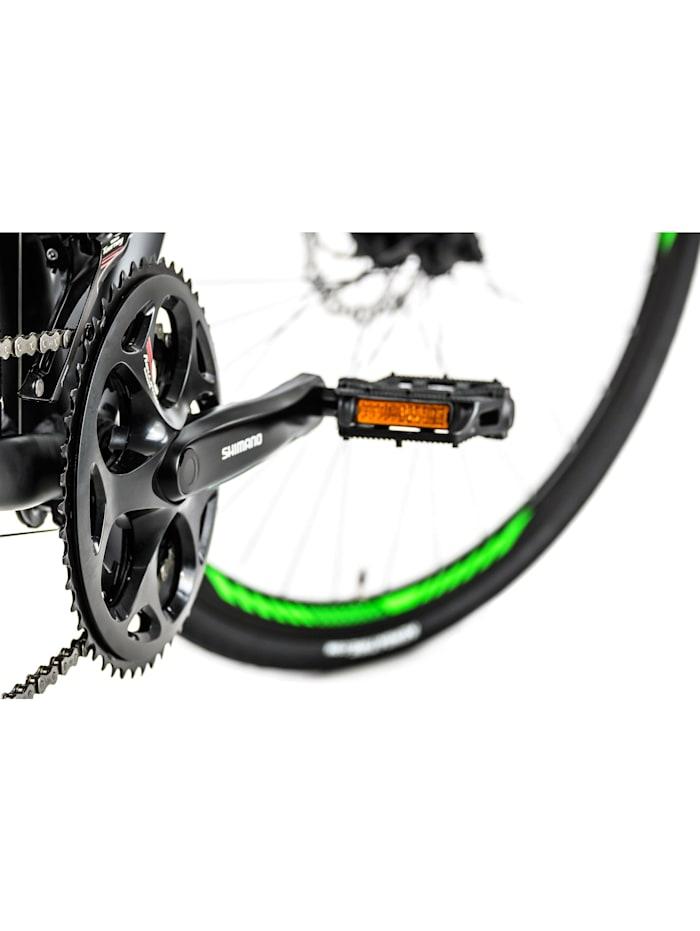 Gravelbike Rennrad 28'' Xceed schwarz-grün