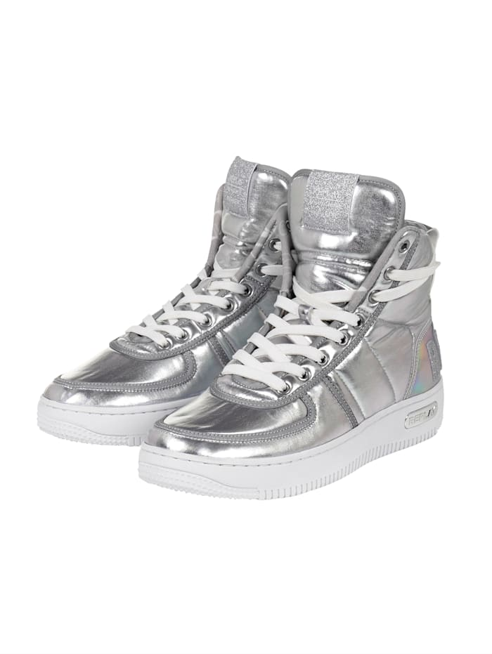 REPLAY Hightop-Sneaker, Silberfarben