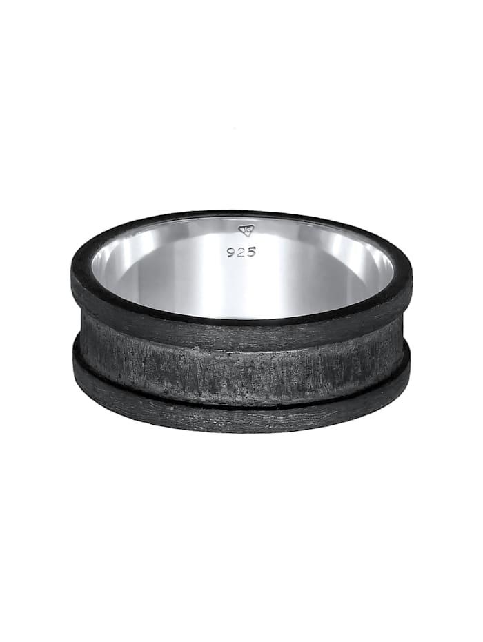Ring Herren Bandring Breit Oxidiert Casual 925 Silber
