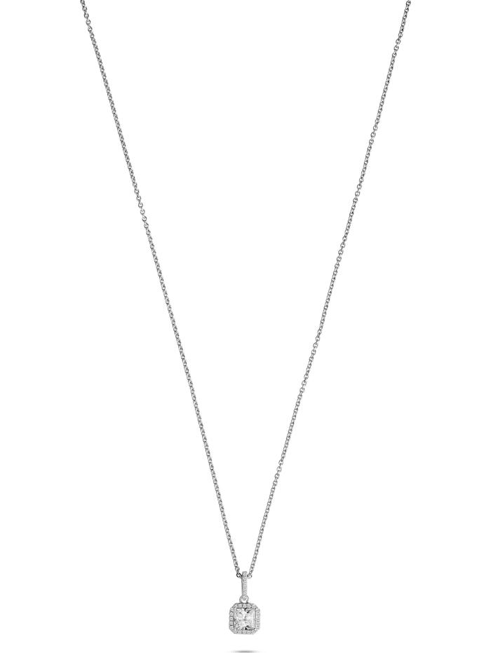 FAVS. FAVS Damen-Kette 925er Silber rhodiniert 27 Zirkonia, silber
