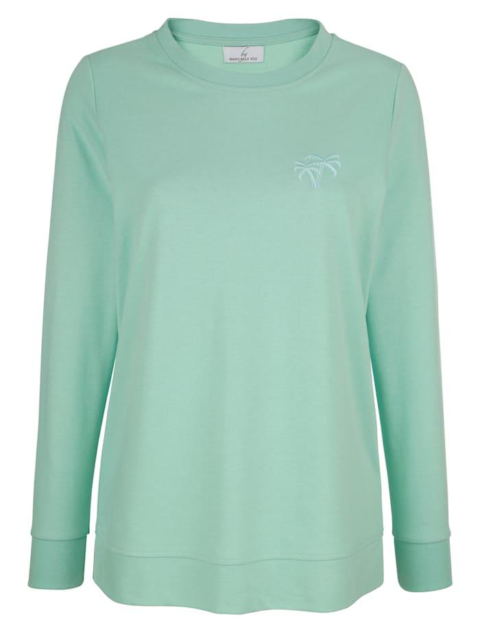 Sweatshirt mit kleiner Sickerei